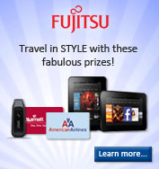 Fujitsu and NewWave want you to travel in style with these fabulous prizes! Click to learn more!