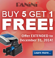 Panini's Buy 5 Get 1 Free Promotion! Click to learn more!